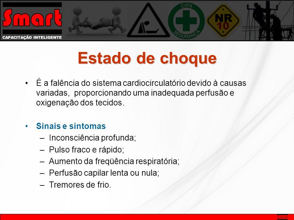 CAPACITAÇÃO INTELIGENTE É a falência do sistema cardiocirculatório devido à causas variadas, proporcionando uma inadequada perfusão e oxigenação dos tecidos.