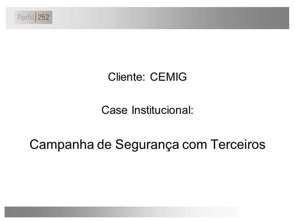 O Cenário/ Desafio/ Objetivo A CEMIG criou a CEPAP - Campanha Externa de Prevenção de Acidentes com a População.