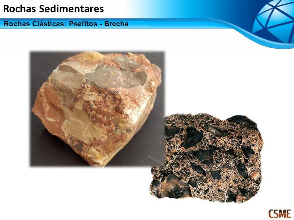 Rochas Sedimentares Rochas Clásticas: Psefitos - Brecha