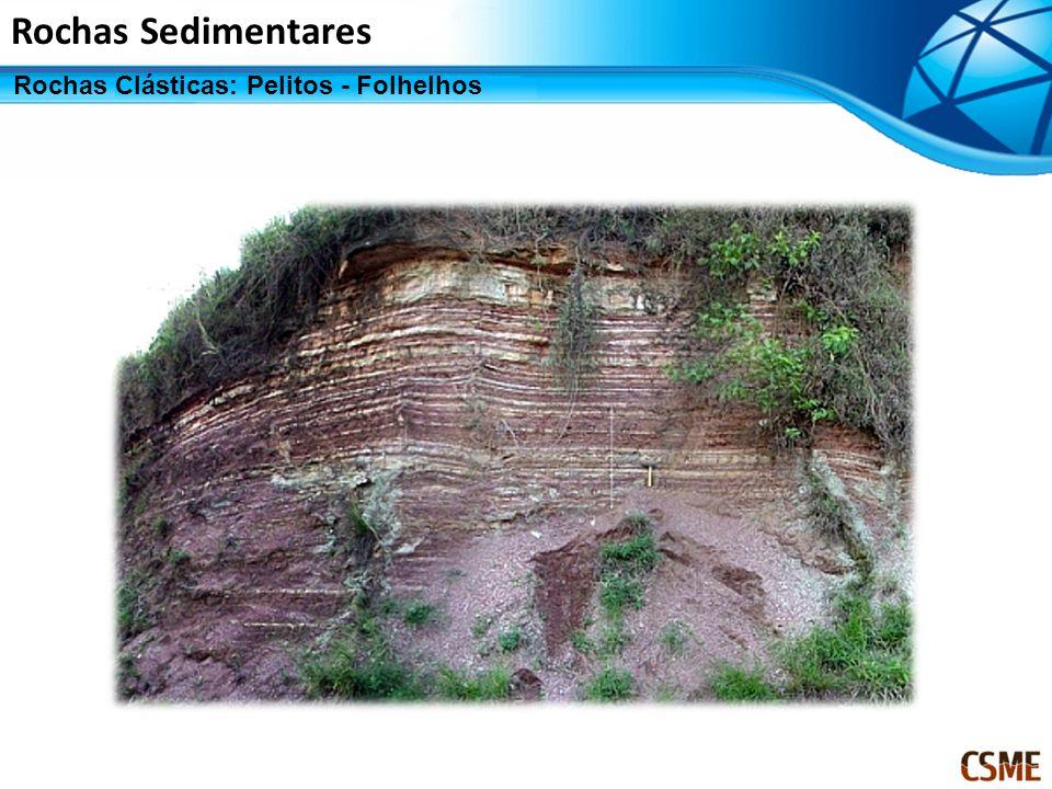 Rochas Sedimentares Rochas Clásticas: Pelitos - Folhelhos