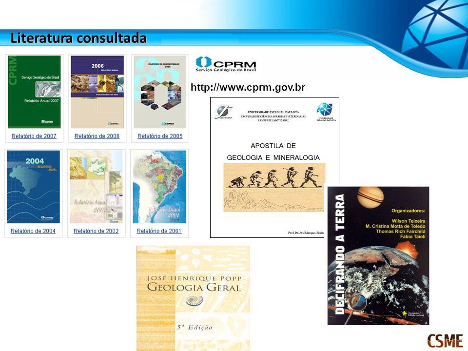 http://www.cprm.gov.br Literatura consultada