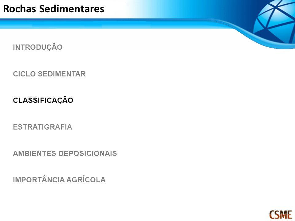 Rochas Sedimentares INTRODUÇÃO CICLO SEDIMENTAR CLASSIFICAÇÃO ESTRATIGRAFIA AMBIENTES DEPOSICIONAIS IMPORTÂNCIA AGRÍCOLA