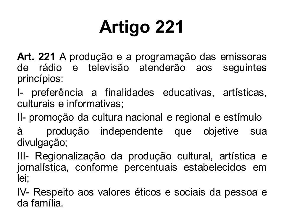 Artigo 221 Art.