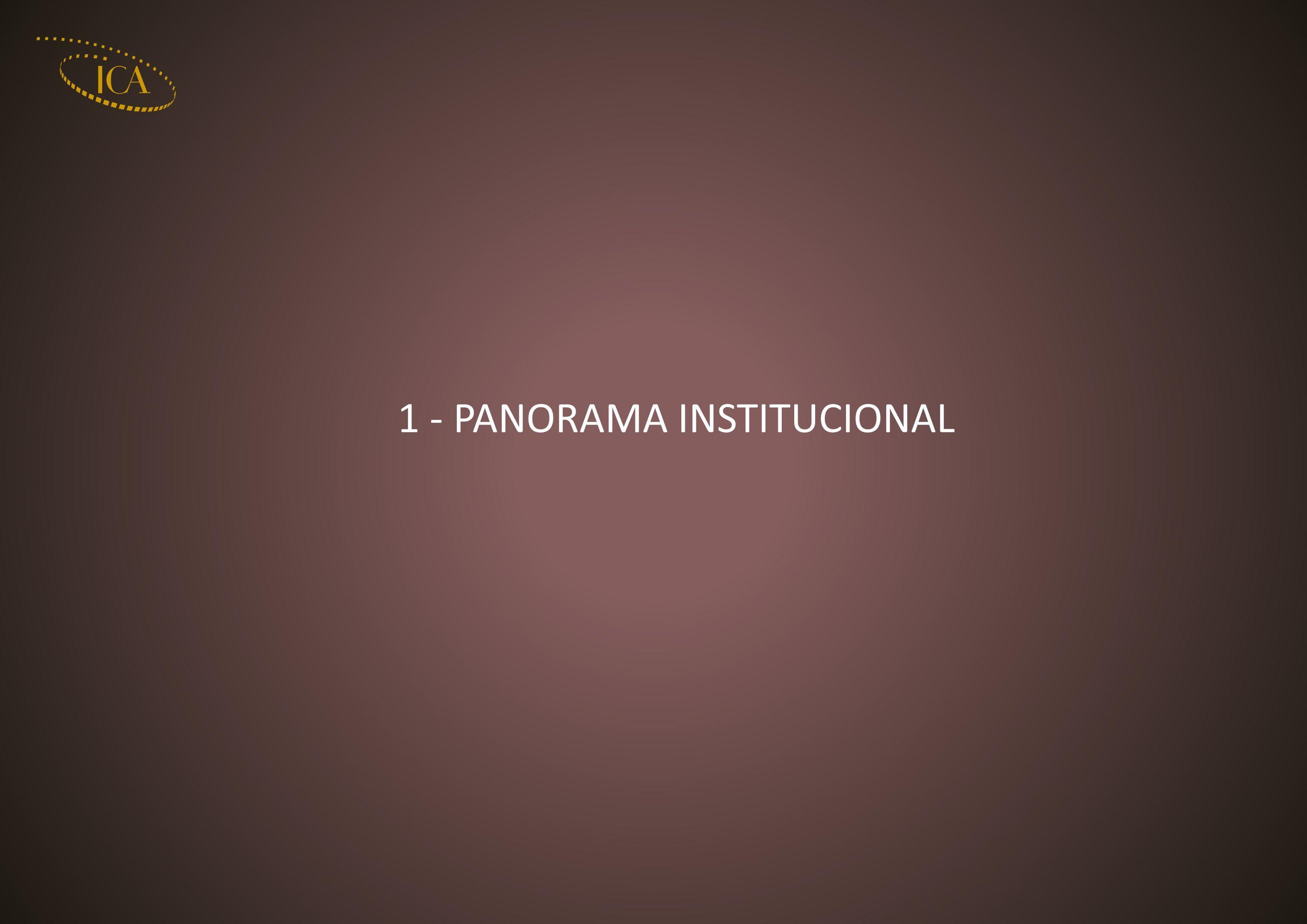 1 - PANORAMA INSTITUCIONAL