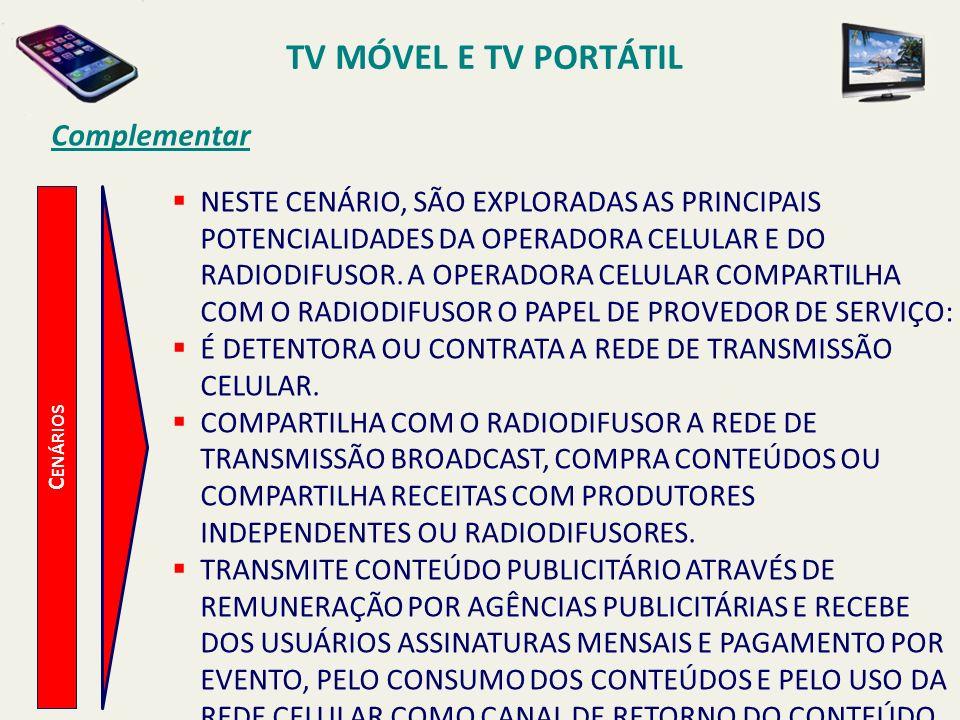 C ENÁRIOS NESTE CENÁRIO, SÃO EXPLORADAS AS PRINCIPAIS POTENCIALIDADES DA OPERADORA CELULAR E DO RADIODIFUSOR.