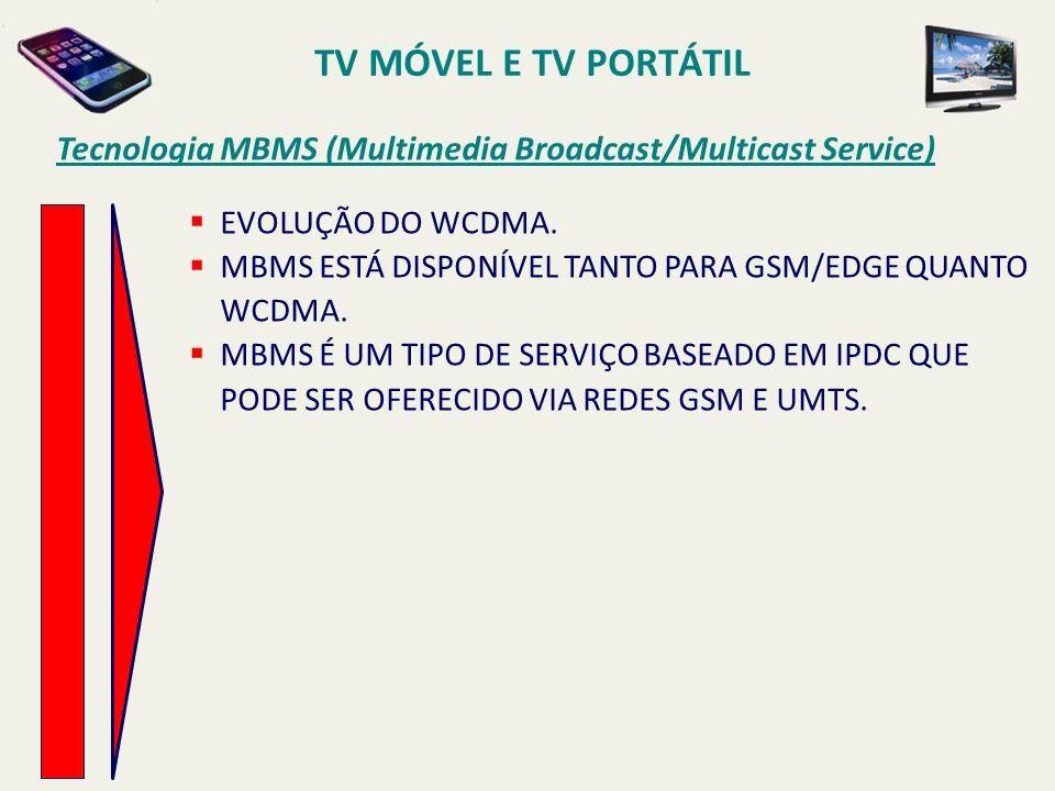 EVOLUÇÃO DO WCDMA.MBMS ESTÁ DISPONÍVEL TANTO PARA GSM/EDGE QUANTO WCDMA.