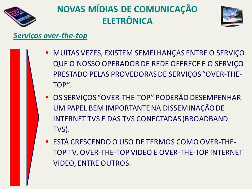 Serviços over-the-top MUITAS VEZES, EXISTEM SEMELHANÇAS ENTRE O SERVIÇO QUE O NOSSO OPERADOR DE REDE OFERECE E O SERVIÇO PRESTADO PELAS PROVEDORAS DE SERVIÇOS OVER-THE- TOP.