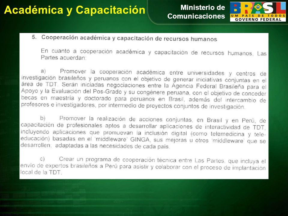 Ministerio de Comunicaciones Académica y Capacitación