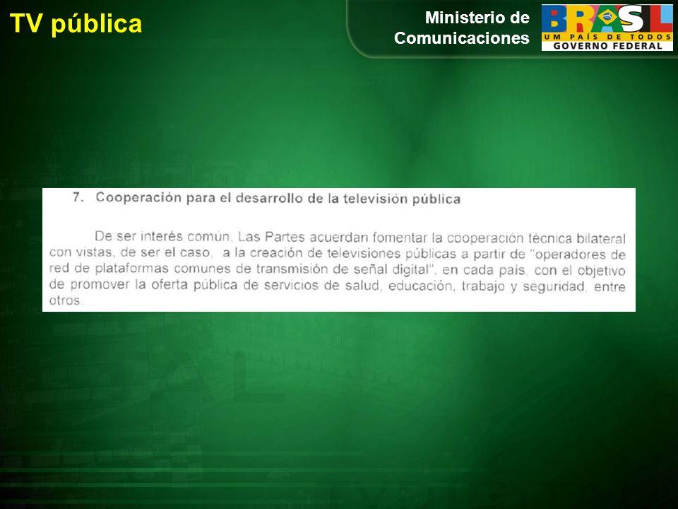 Ministerio de Comunicaciones TV pública