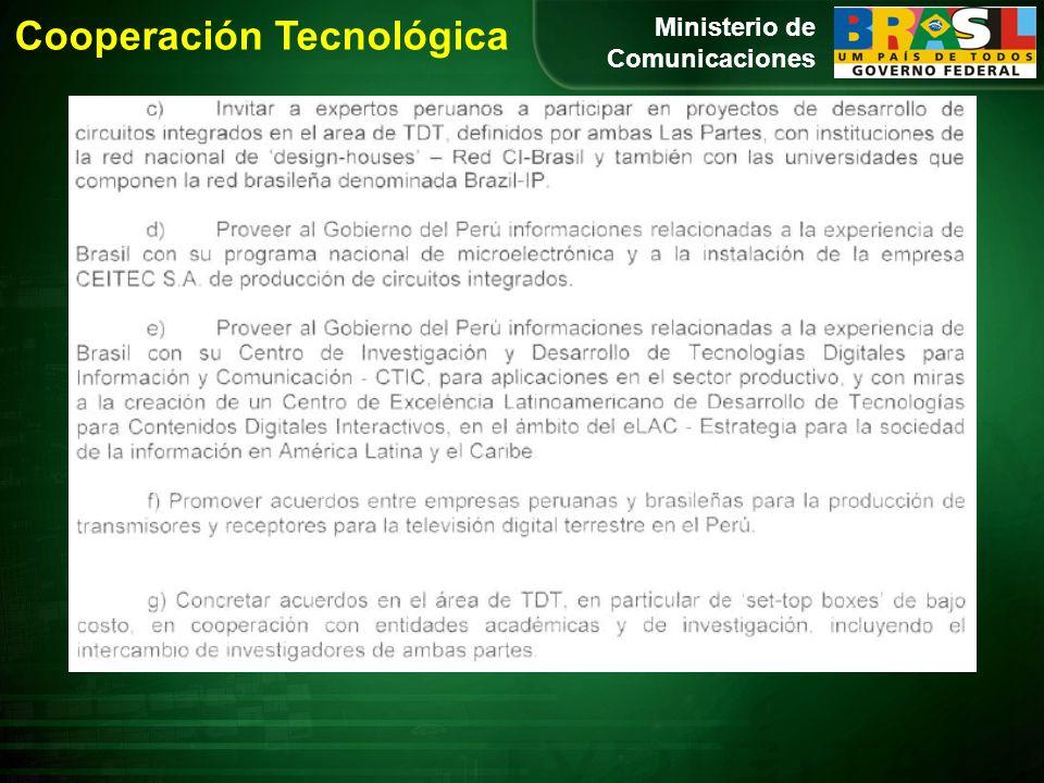 Ministerio de Comunicaciones Cooperación Tecnológica