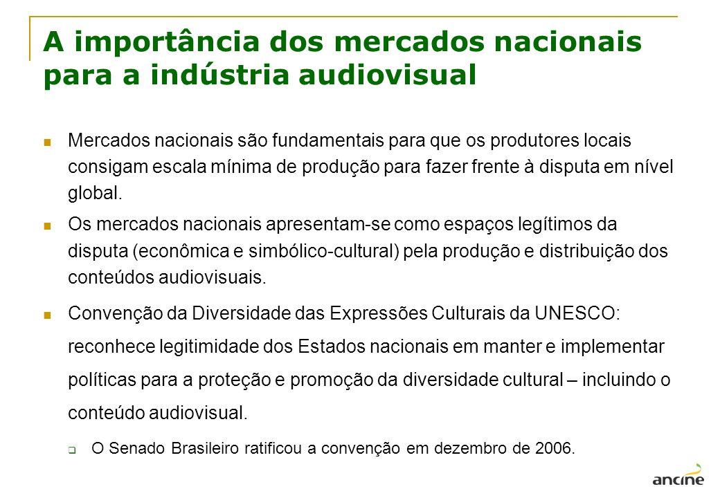 A importância dos mercados nacionais para a indústria audiovisual Mercados nacionais são fundamentais para que os produtores locais consigam escala mí