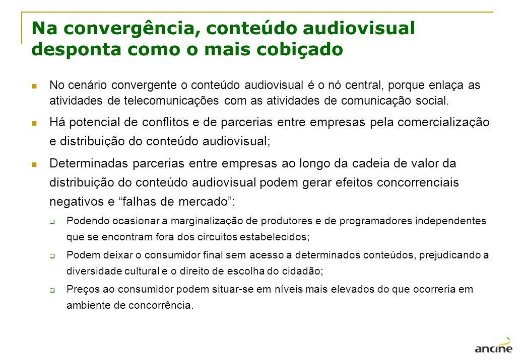 Na convergência, conteúdo audiovisual desponta como o mais cobiçado No cenário convergente o conteúdo audiovisual é o nó central, porque enlaça as ati