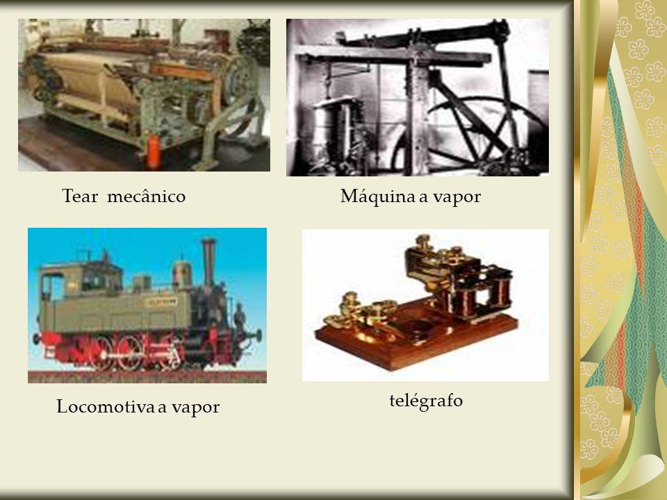 Tear mecânicoMáquina a vapor Locomotiva a vapor telégrafo