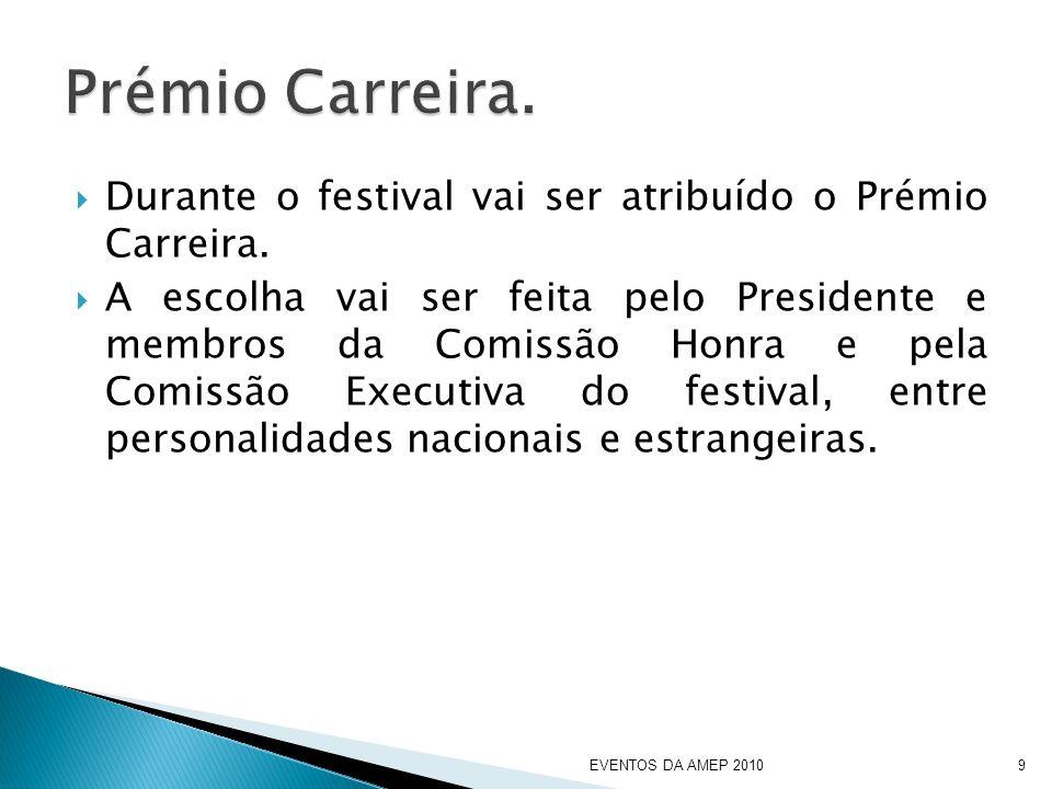 Durante o festival vai ser atribuído o Prémio Carreira.