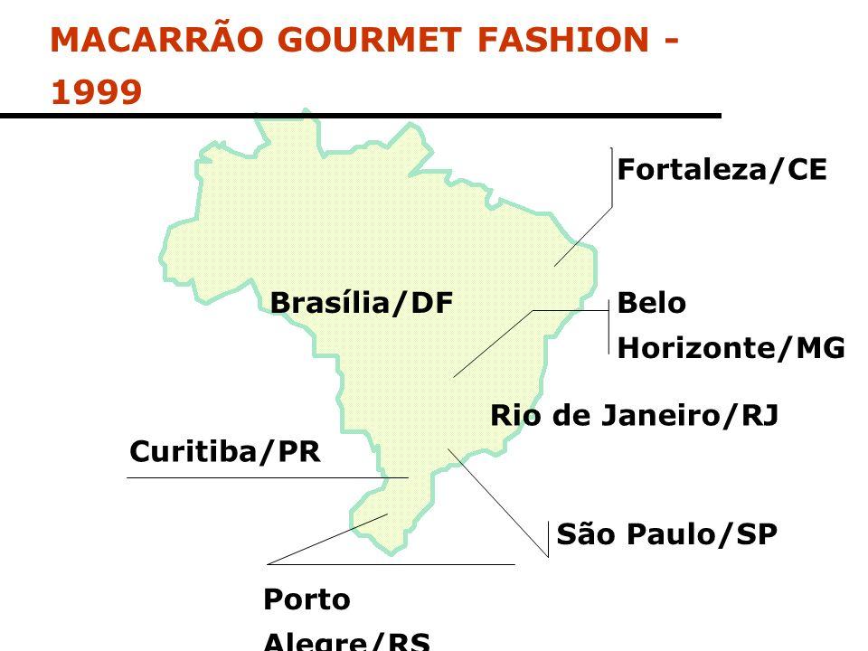 Fortaleza/CE Porto Alegre/RS São Paulo/SP Rio de Janeiro/RJ Brasília/DF Curitiba/PR Belo Horizonte/MG MACARRÃO GOURMET FASHION - 1999