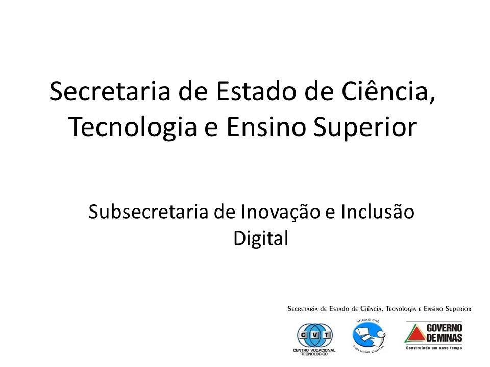 Secretaria de Estado de Ciência, Tecnologia e Ensino Superior Subsecretaria de Inovação e Inclusão Digital