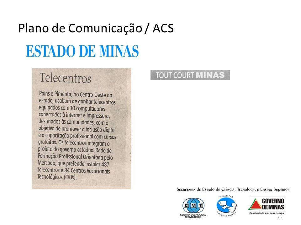 21 Plano de Comunicação / ACS