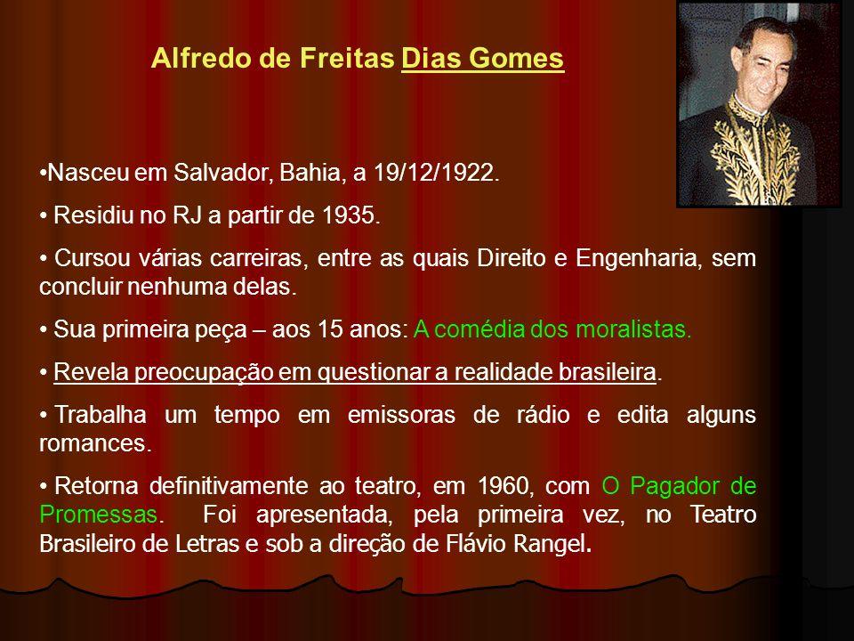 Alfredo de Freitas Dias Gomes Nasceu em Salvador, Bahia, a 19/12/1922.