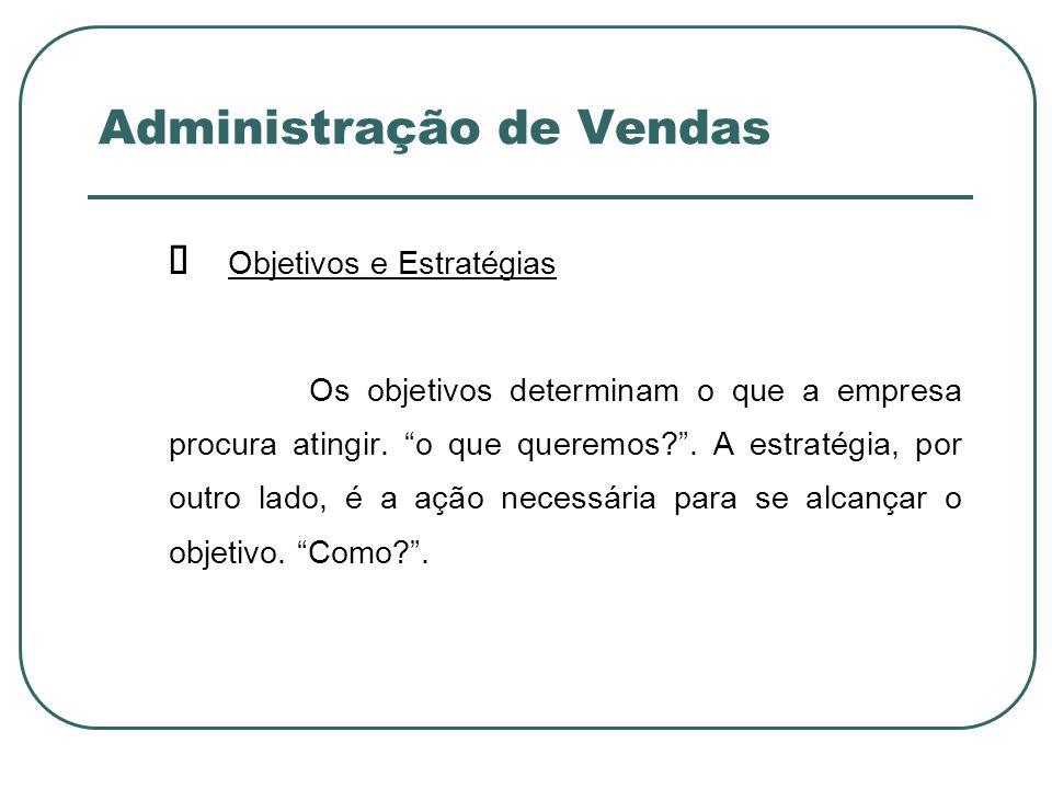 Administração de Vendas ORÇAMENTO DE VENDAS Inicia-se a partir da avaliação do que poderá ocorrer (previsão).