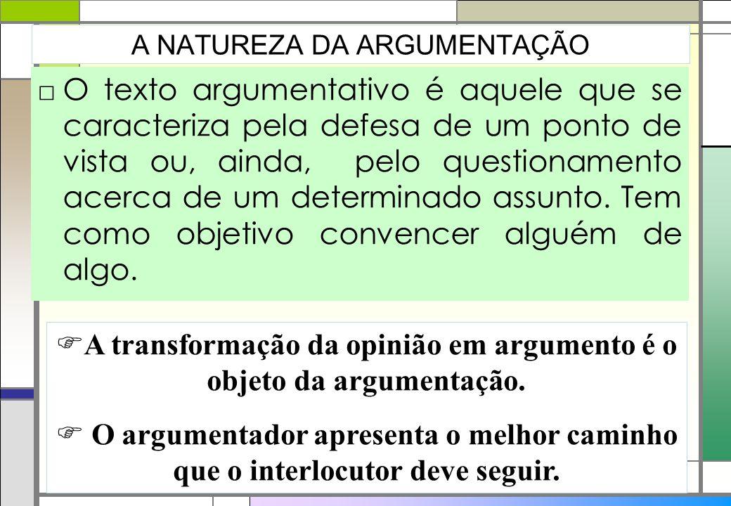 O texto argumentativo é aquele que se caracteriza pela defesa de um ponto de vista ou, ainda, pelo questionamento acerca de um determinado assunto. Te