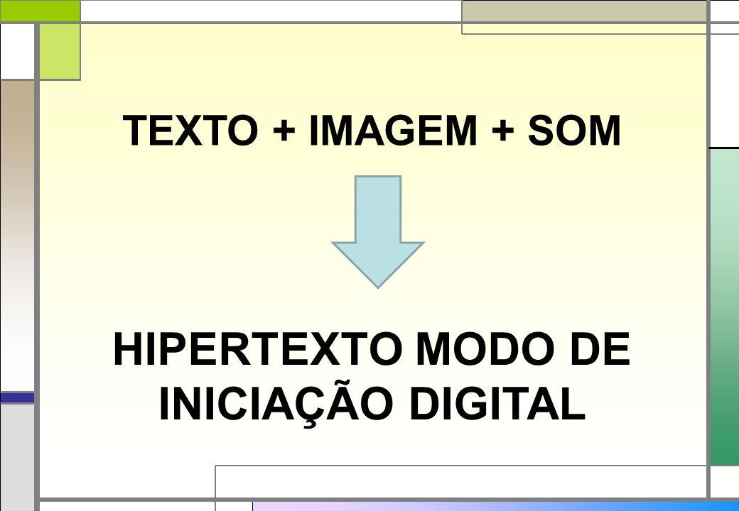 HIPERTEXTO MODO DE INICIAÇÃO DIGITAL TEXTO + IMAGEM + SOM