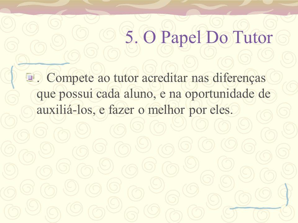 5.O Papel Do Tutor.