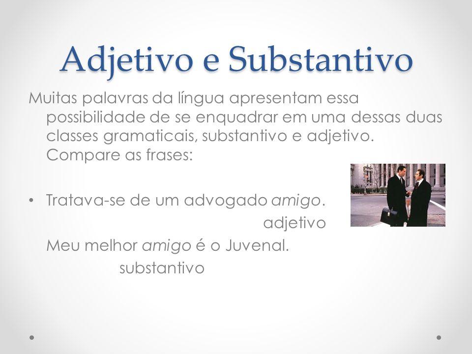 Adjetivo e Substantivo Nem todo substantivo pode funcionar como modificador.
