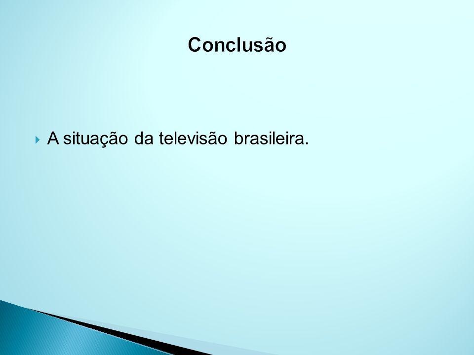 A situação da televisão brasileira.