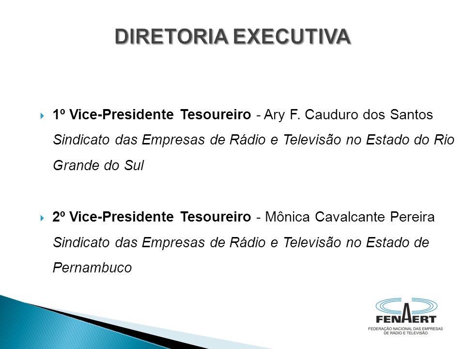 1º Vice-Presidente Tesoureiro - Ary F. Cauduro dos Santos Sindicato das Empresas de Rádio e Televisão no Estado do Rio Grande do Sul 2º Vice-President