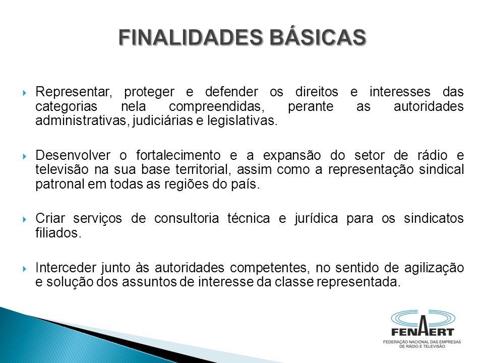 Representar, proteger e defender os direitos e interesses das categorias nela compreendidas, perante as autoridades administrativas, judiciárias e leg