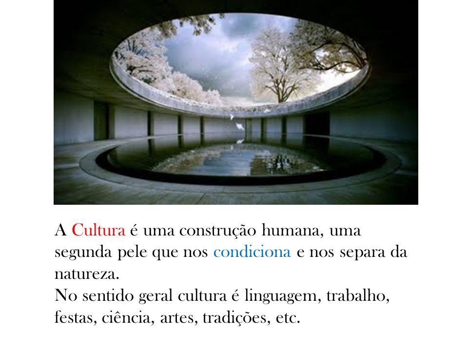 A Cultura é uma construção humana, uma segunda pele que nos condiciona e nos separa da natureza. No sentido geral cultura é linguagem, trabalho, festa