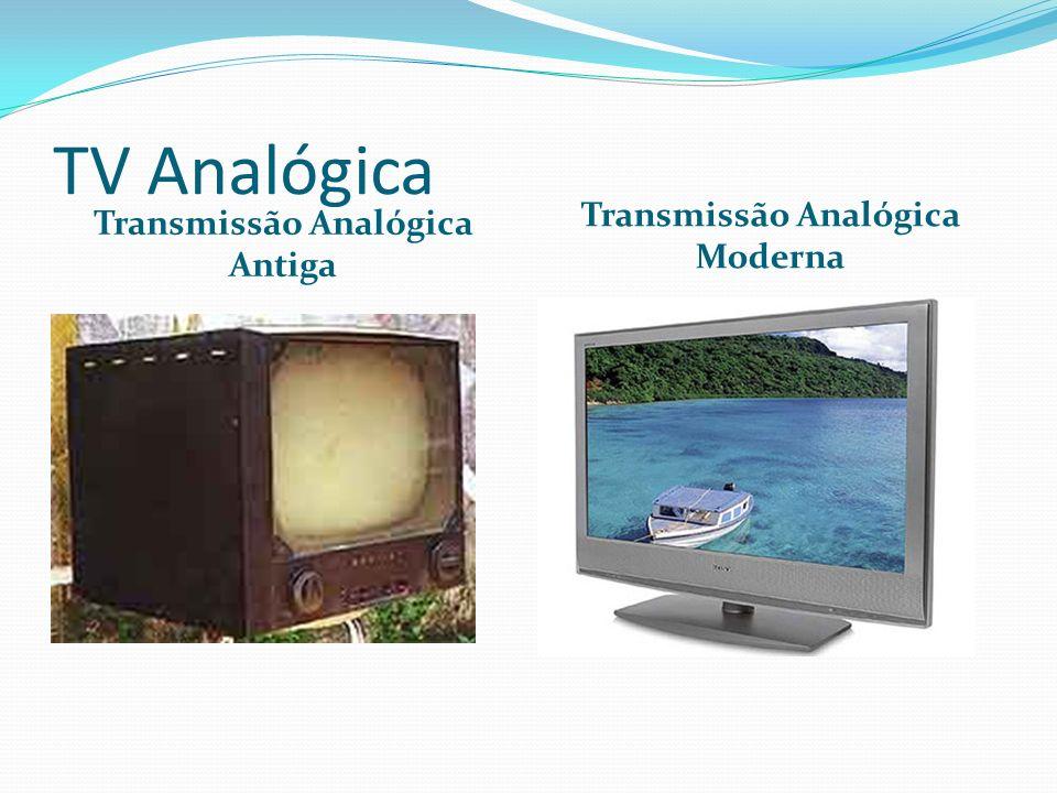 TV Analógica Transmissão Analógica Antiga Transmissão Analógica Moderna