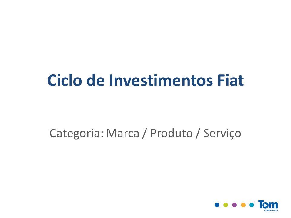 Ciclo de Investimentos Fiat Categoria: Marca / Produto / Serviço