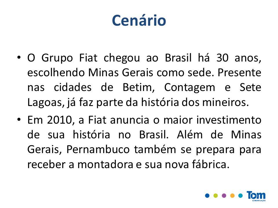 Desafio A necessidade estratégica de neutralizar os impactos negativos da parcela do investimento não destinada para Minas Gerais.