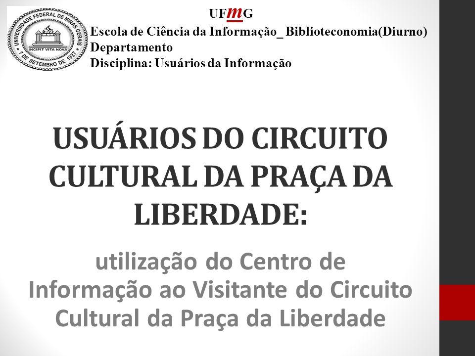 USUÁRIOS DO CIRCUITO CULTURAL DA PRAÇA DA LIBERDADE: utilização do Centro de Informação ao Visitante do Circuito Cultural da Praça da Liberdade UF m G