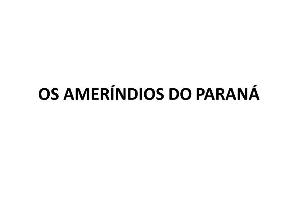 OS AMERÍNDIOS DO PARANÁ