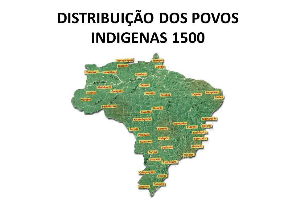 DISTRIBUIÇÃO DOS POVOS INDIGENAS 1500