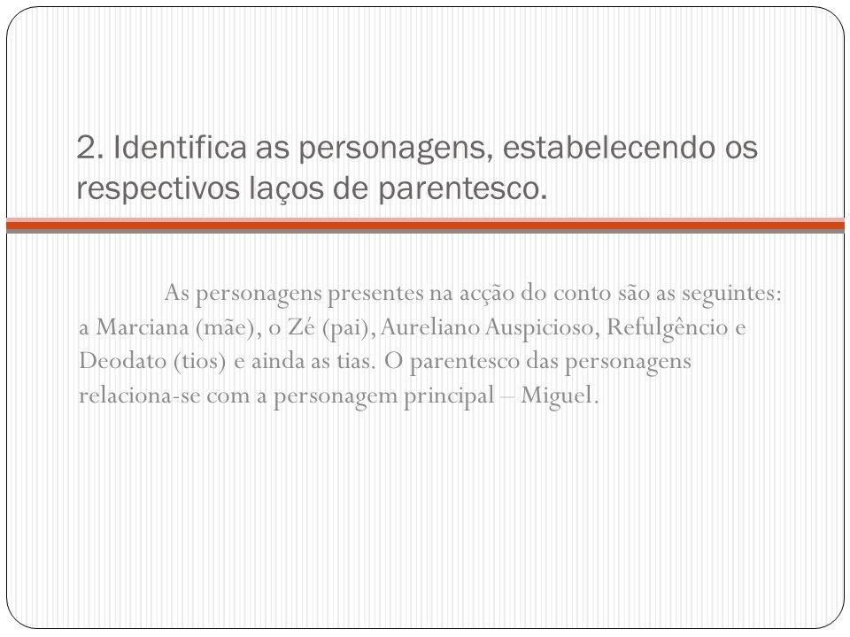3.Explica a origem dos estranhos nomes dos irmãos de Vasconcelos.