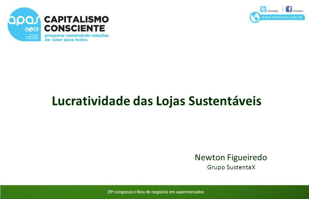 Lucratividade das Lojas Sustentáveis Newton Figueiredo Grupo SustentaX