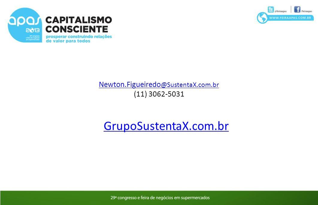 Newton.Figueiredo @SustentaX.com.br (11) 3062-5031 GrupoSustentaX.com.br