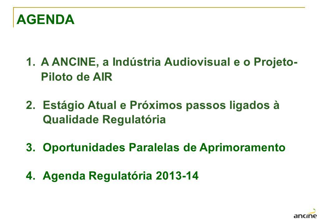 1. A ANCINE, a Indústria Audiovisual e o Projeto- Piloto de AIR