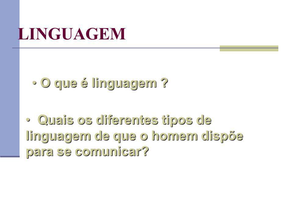 LINGUAGEM O que é linguagem .O que é linguagem .