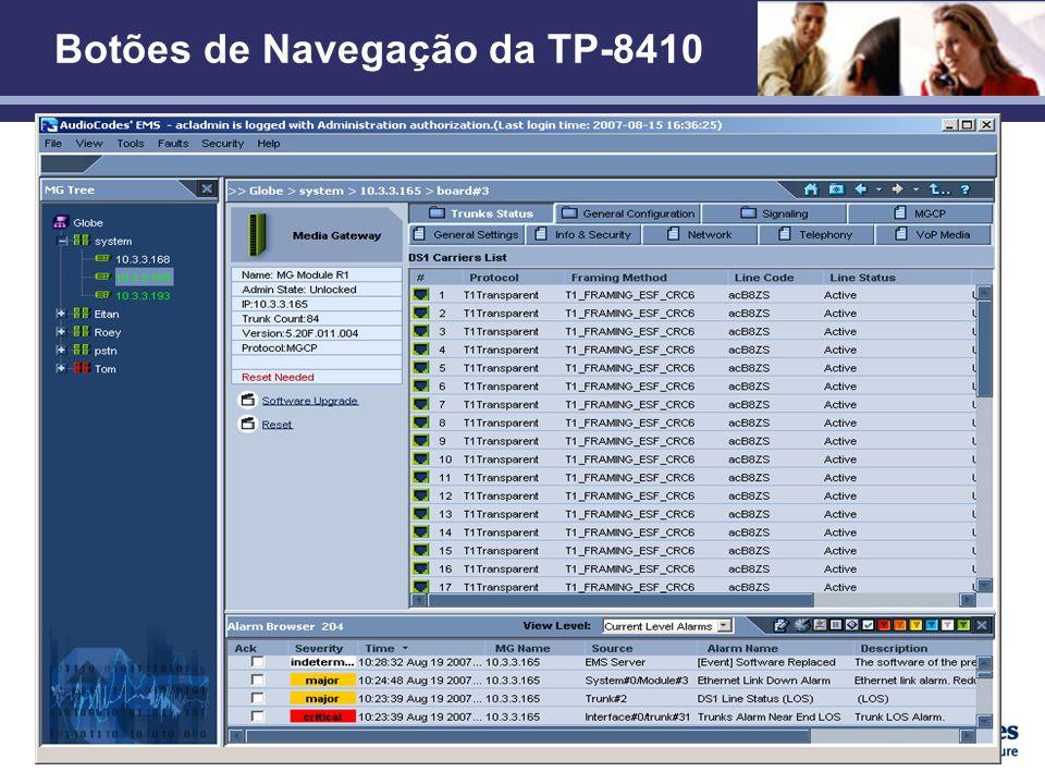 Confidencial Botões de Navegação da TP-8410