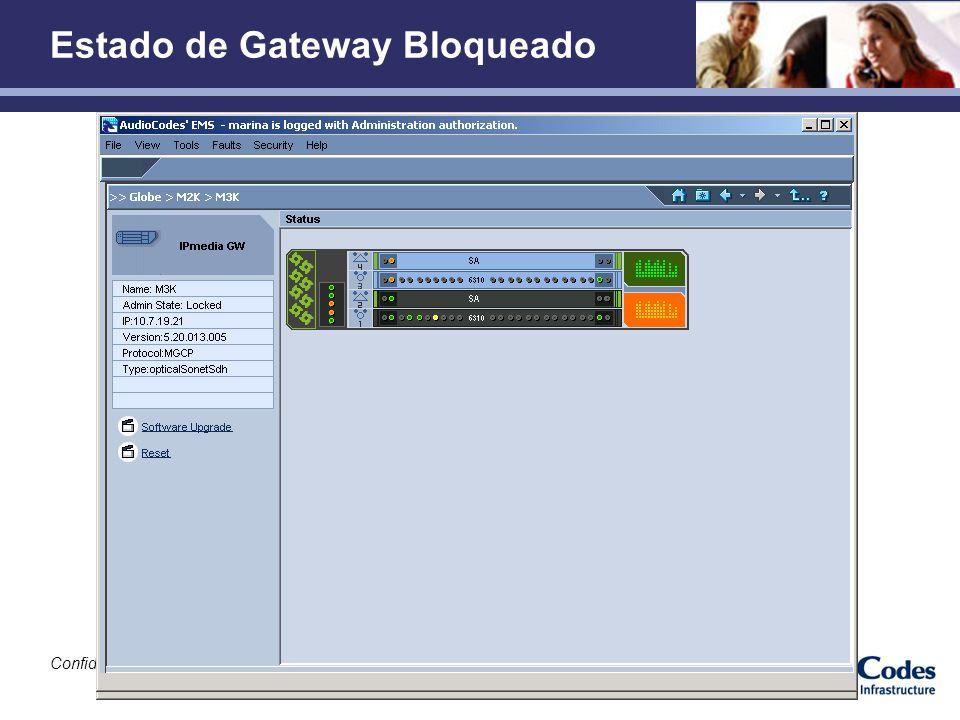 Confidencial Estado de Gateway Bloqueado