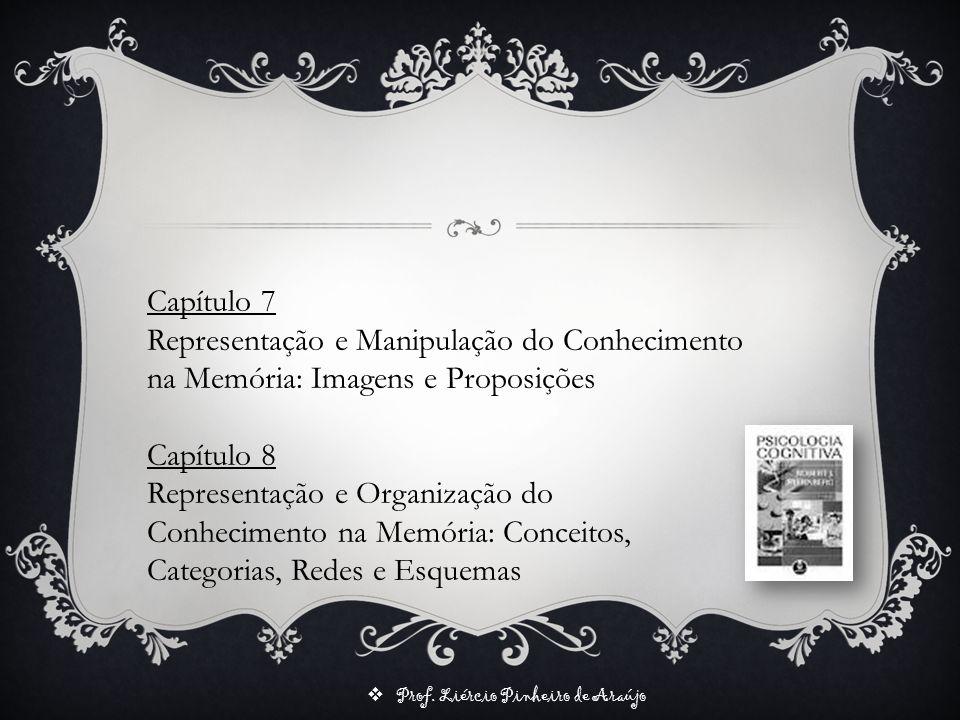 Prof. Liércio Pinheiro de Araújo Capítulo 7 Representação e Manipulação do Conhecimento na Memória: Imagens e Proposições Capítulo 8 Representação e O