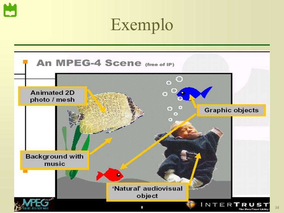 36Módulo 6 – Compressão de Vídeo Exemplo