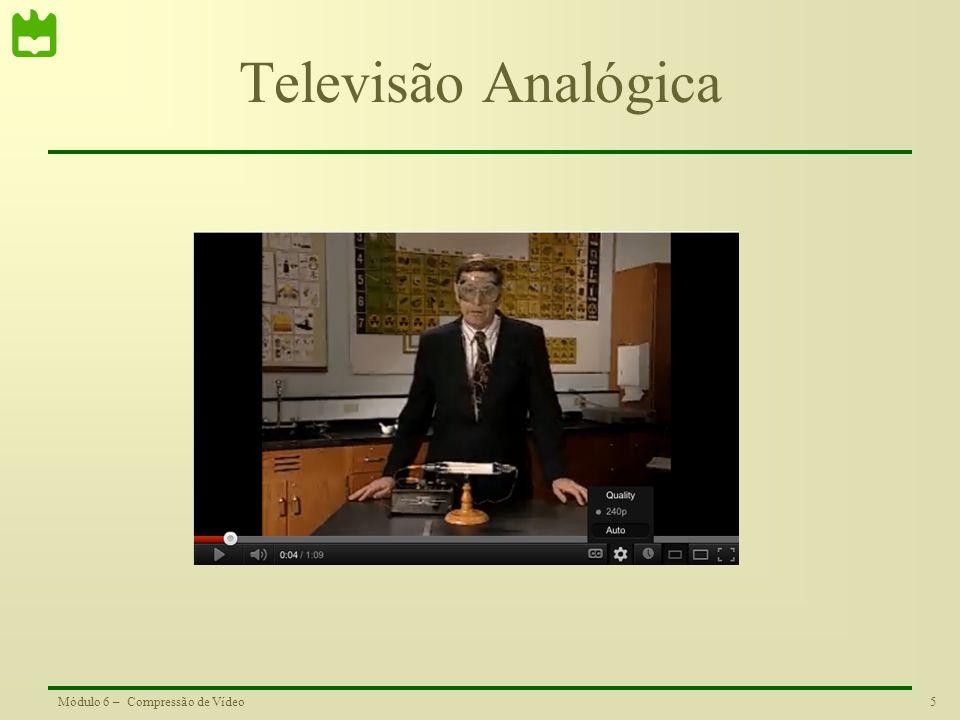 5Módulo 6 – Compressão de Vídeo Televisão Analógica