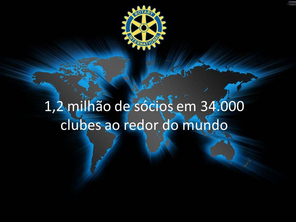 1,2 milhão de sócios em 34.000 clubes ao redor do mundo