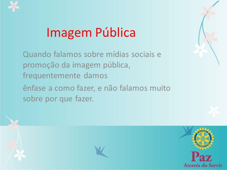 Imagem Pública Quando falamos sobre mídias sociais e promoção da imagem pública, frequentemente damos ênfase a como fazer, e não falamos muito sobre p