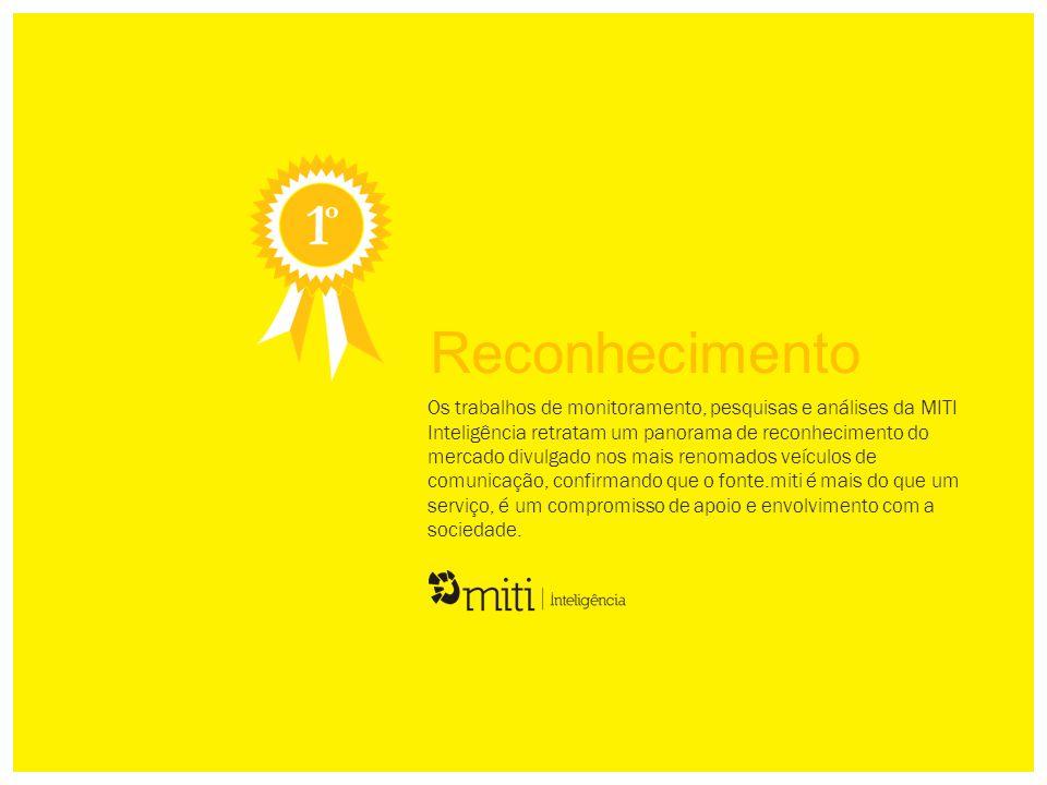 Os trabalhos de monitoramento, pesquisas e análises da MITI Inteligência retratam um panorama de reconhecimento do mercado divulgado nos mais renomado